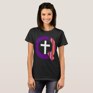 Camiseta Logotipo estranhamente cristão (escuro)
