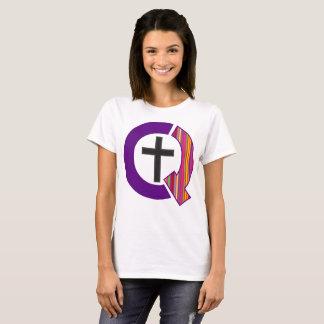 Camiseta Logotipo estranhamente cristão (luz)