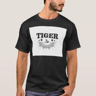 Camiseta logotipo extravagante do tigre