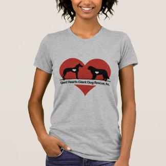 Camiseta Logotipo gigante do salvamento do cão dos corações
