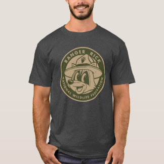 Camiseta Logotipo Khaki do rick da guarda florestal do rick