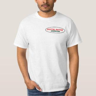 Camiseta Logotipo nativo do t-shirt de Digitas