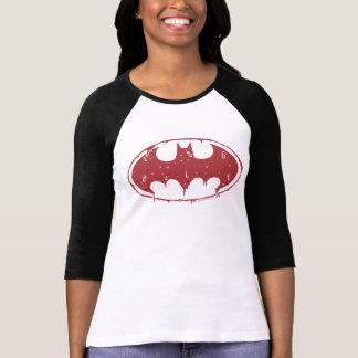 Camiseta Logotipo Oozing do bastão vermelho de Batman |