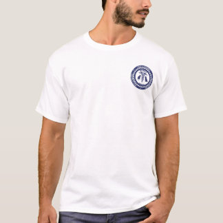 Camiseta logotipo pequeno, Blue&amp do pam; Logotipo branco