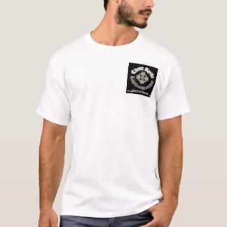 Camiseta logotipo pequeno do bolso, grande da imagem parte
