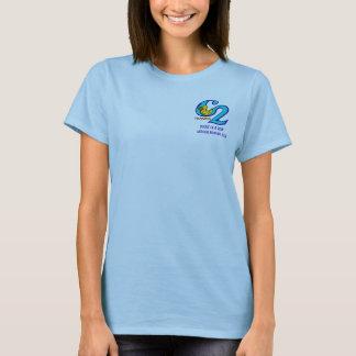 Camiseta Logotipo pequeno & texto de DIAR na parte