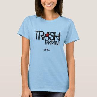 Camiseta Logotipo preto das senhoras de Martini do LIXO