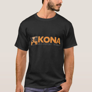 Camiseta Logotipo preto de Kona w/orange (parte dianteira)