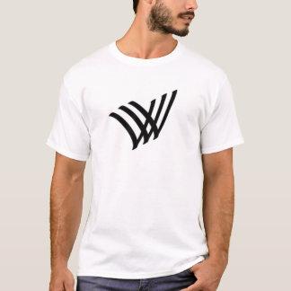 Camiseta logotipo preto do vidi vici do veni vvv