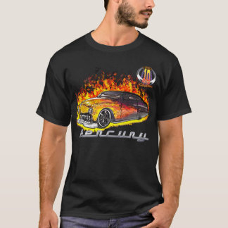 Camiseta Logotipo real quente da chama Merc-w/10yr