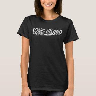 Camiseta Logotipo retro afligido de Long Island