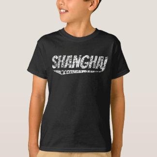 Camiseta Logotipo retro afligido de Shanghai