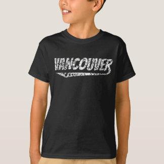 Camiseta Logotipo retro afligido de Vancôver