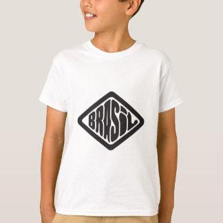 Camiseta logotipo retro de Brasil da forma do diamante