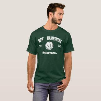 Camiseta Logotipo retro do basquetebol de New Hampshire