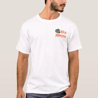 Camiseta Logotipo selvagem dos macacos