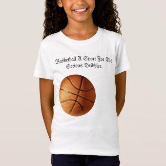 Camiseta Logotipo sério do driblador do basquetebol