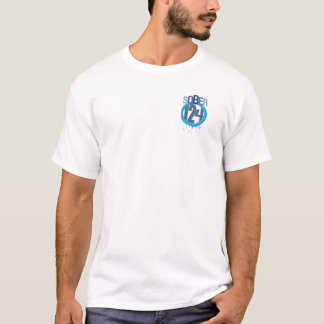 Camiseta Logotipo Sober124 com o pescador perigoso na parte
