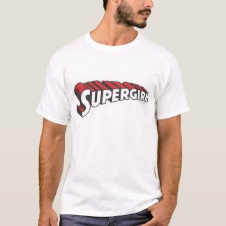 Camiseta Logotipo vermelho e branco de Supergirl