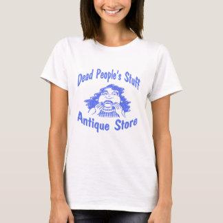 Camiseta Loja antiga do material do pessoa inoperante