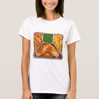 Camiseta Lombo de carne de porco retro do comensal de tevê