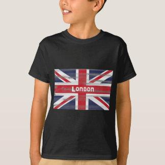 Camiseta Londres e o t-shirt da bandeira de Union Jack