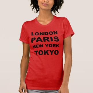 Camiseta Londres, Paris, New York, Tokyo.