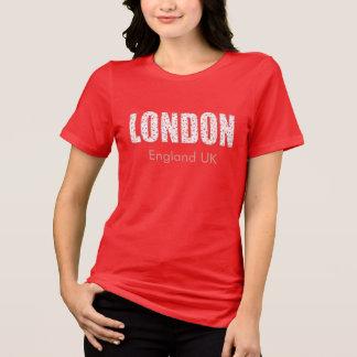 Camiseta Londres (teste padrão, tipografia de flor do