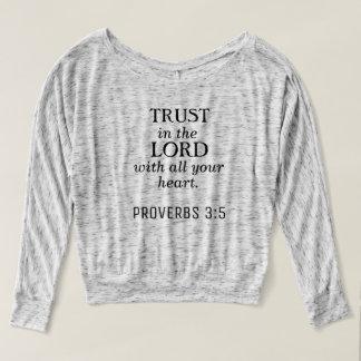 Camiseta longa cristã da luva do 3:5 dos provérbio
