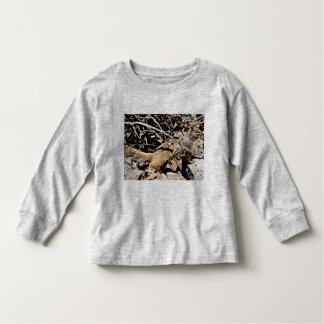 Camiseta longa da luva da criança - esquilo de