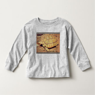 Camiseta longa da luva da criança - tartaruga de