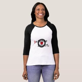 Camiseta Longo-Luva do DefenceReport das mulheres com