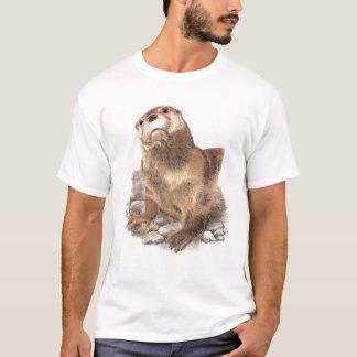 Camiseta Lontra bonito, animal, animais selvagens,