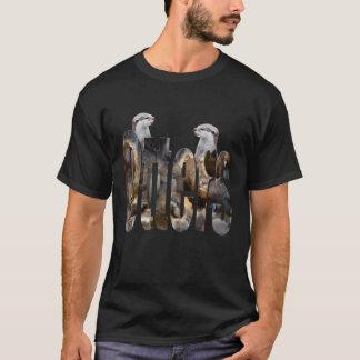 Camiseta Lontras e logotipo das lontras,