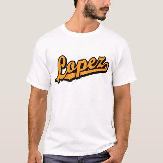 Camiseta López na laranja