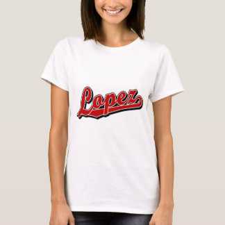 Camiseta López no vermelho