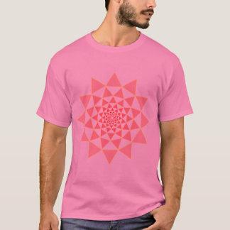 Camiseta lótus cor-de-rosa no rosa