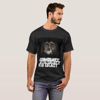 Camiseta Louco secundário acima no fumo