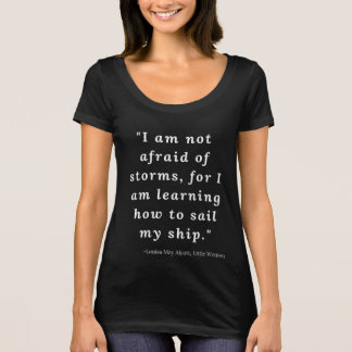 Camiseta Louisa pode Alcott, citações pequenas #2 das