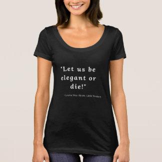 Camiseta Louisa pode Alcott, citações pequenas #3 das