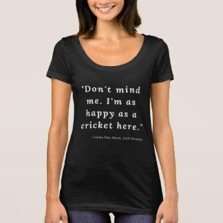 Camiseta Louisa pode Alcott, citações pequenas #4 das