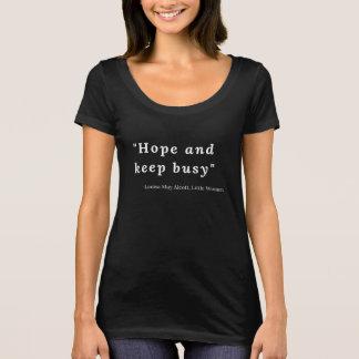 Camiseta Louisa pode Alcott, citações pequenas #5 das