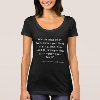 Camiseta Louisa pode Alcott, citações pequenas #7 das