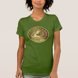 Camiseta Louro por Alphonse Mucha