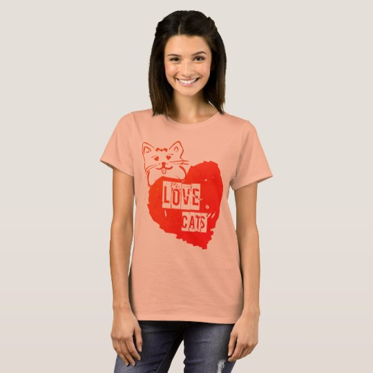 Camiseta love cat