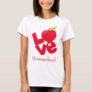 Camiseta Love Homeschool Red Apple