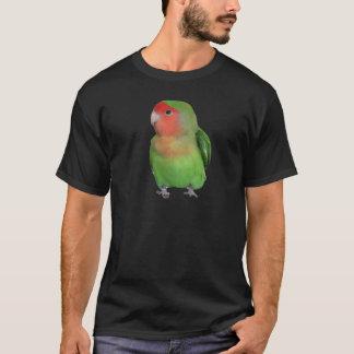 Camiseta Lovebird Pêssego-enfrentado