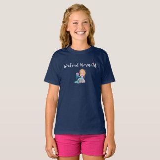 Camiseta Lt do gráfico da aguarela do Seashell da sereia do