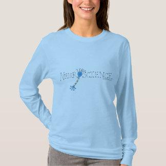 Camiseta Lt. T-shirt Longo-sleeved azul da neurociência