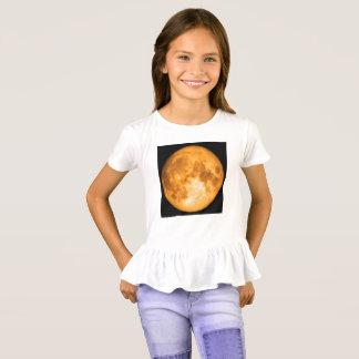 Camiseta Lua cheia alaranjada